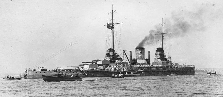 The Turkish battlecruiser Yavuz Sultan Selim. I'm not sure of the year. [3977x1737]