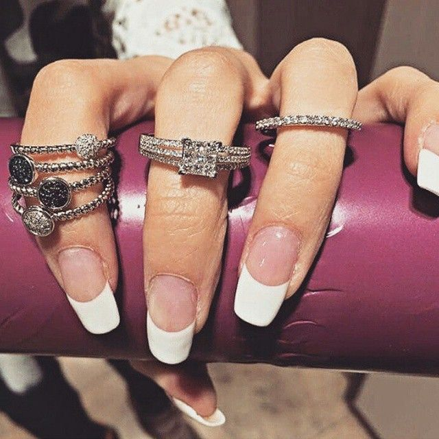 Stack it up  #nails  #diamonds #diamondrings #princesscut