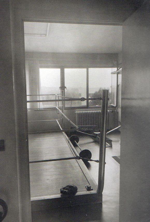 Fotobericht Fritz Lang Wohnung Design Bauhaus Berlin-Dahlem, 1930. Gymnastikraum.