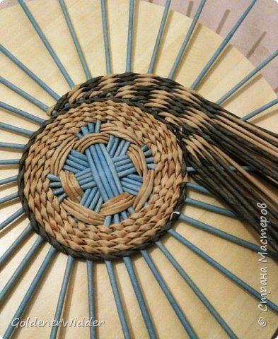 Мастер-класс Плетение Панно 40 см Спиральное плетение Бумага газетная Трубочки бумажные фото 10