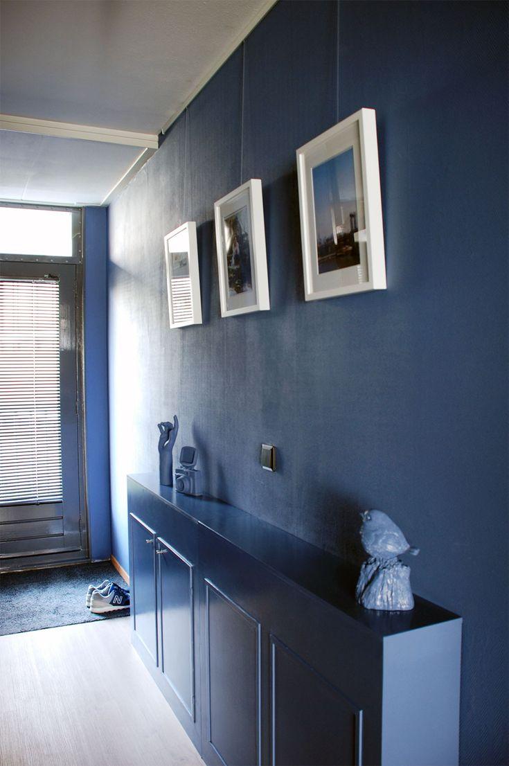 25 beste idee n over blauwe hal op pinterest hal verfkleuren lambriseringen gang en witte hal - Huis entree van hal ...