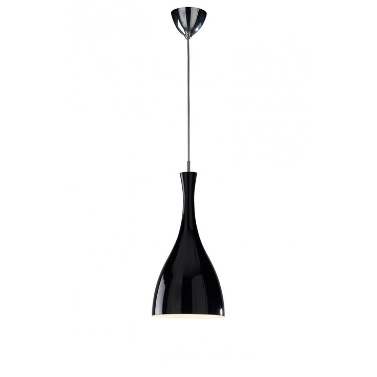 Tone Modern Black Ceiling Pendant Light On A Long Wire