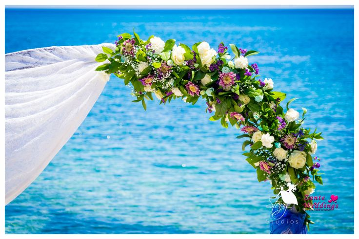 Beautiful flowers for a wedding arch!