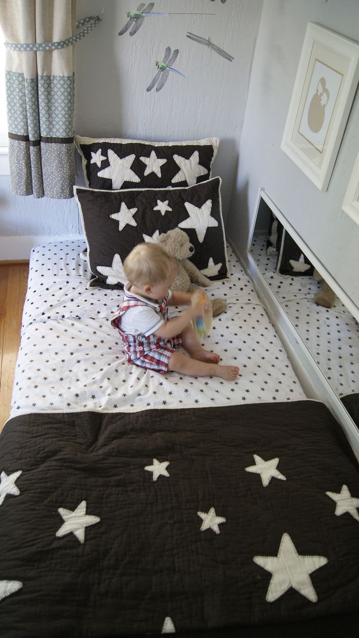 montessori floor bed for a toddler