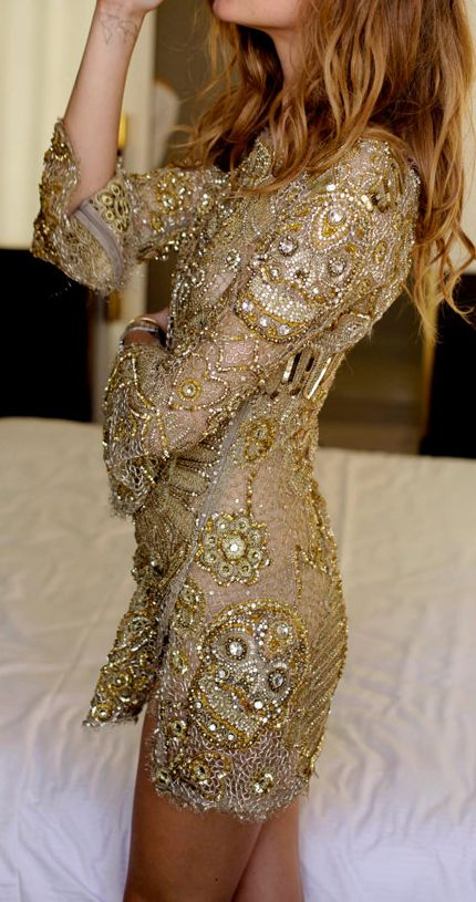 17 Best ideas about Gold Beaded Dress on Pinterest | Golden dress ...