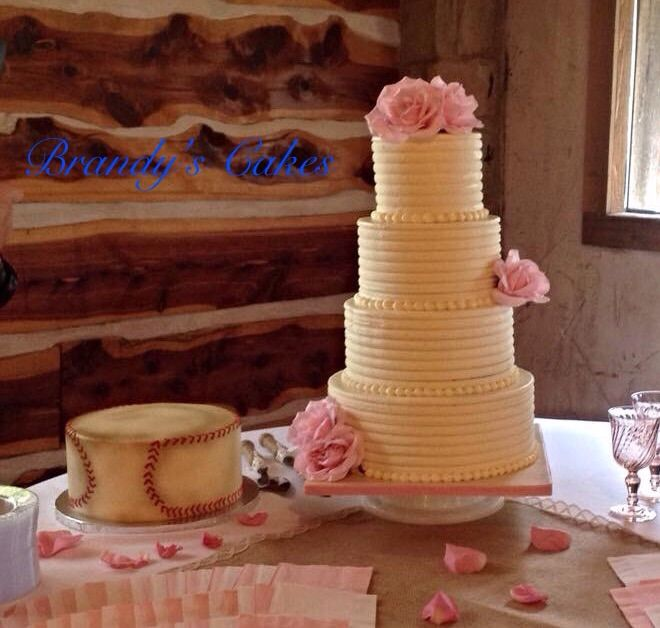 Rough Buttercream Wedding Cake