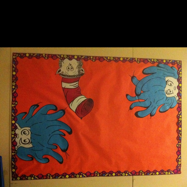 The Cat in the Hat, Thing 1, Thing 2 Bulletin Board