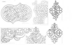 35 Romanian point lace patterns printable  CD