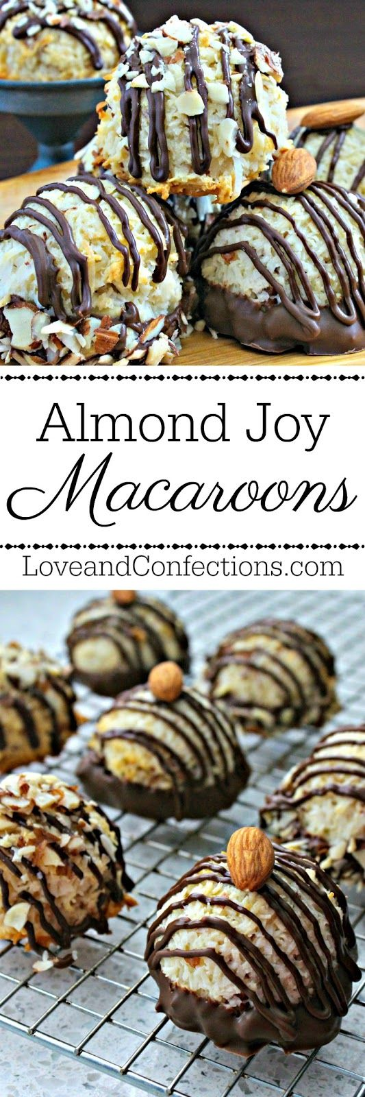 [sponsored] Almond Joy Coconut Macaroons from LoveandConfections.com with @dixiecrystals