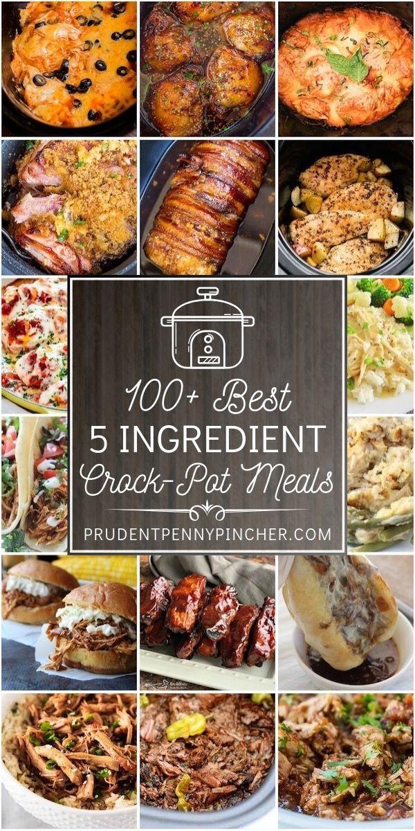 100 Best 5 Ingredient Crockpot Meals Crockpot Recipes Slow Cooker Dinner Recipes Crockpot Chicken Crockpot Recipes