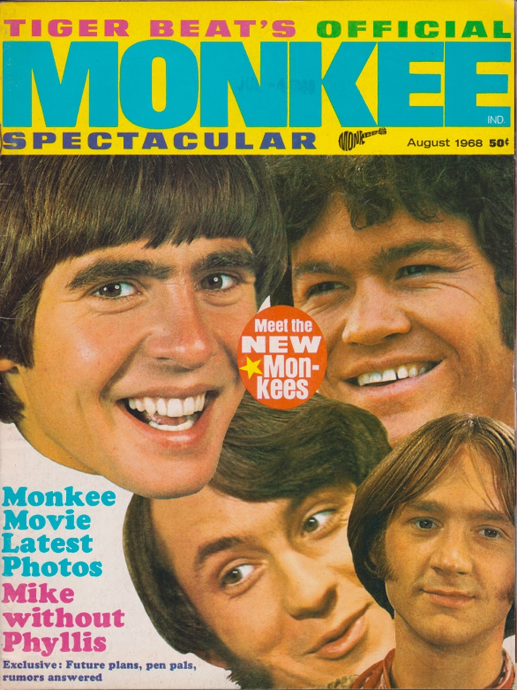 Tiger Beat S Monkee Spectacular August 1968 Tiger Beat