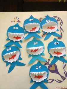 shark craft ideas (mouth looks like a small paper plate)