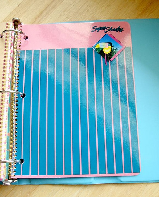 Super Shades notebooks.  Nothing like the pink and purple colored paper.  Wish they still made these.