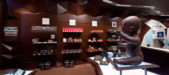 Agency=Minale Design Strategy. Best chocolate store design ever.