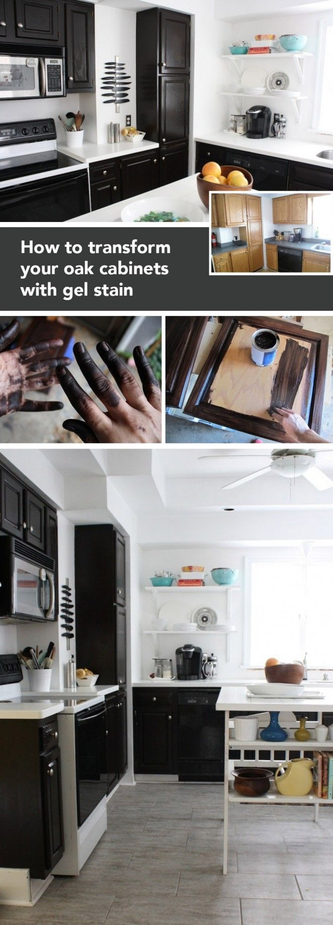 best 20 gel stain cabinets ideas on pinterest stain kitchen makeover your kitchen with this honest tutorial on how to use gel stain gel stain cabinetsoak