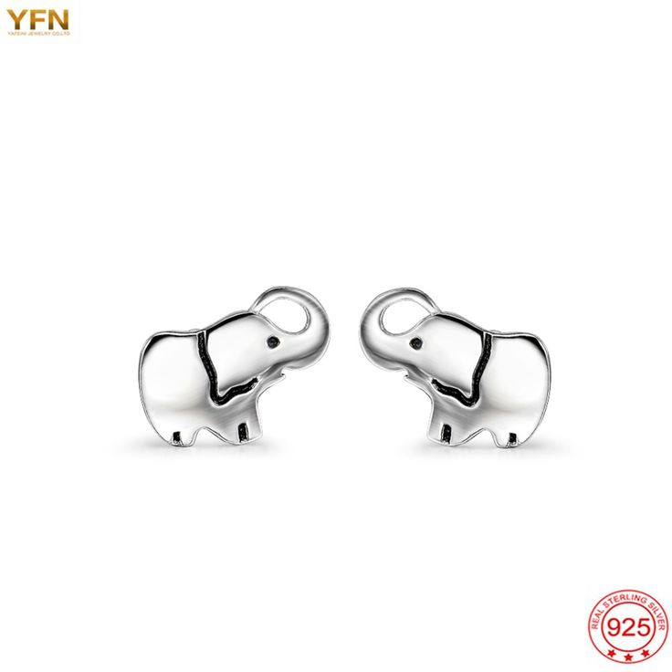 Genuine 925 Sterling Silver Lucky Elephant Earrings //Price: $4.98 & FREE Shipping //     #trendingproducts