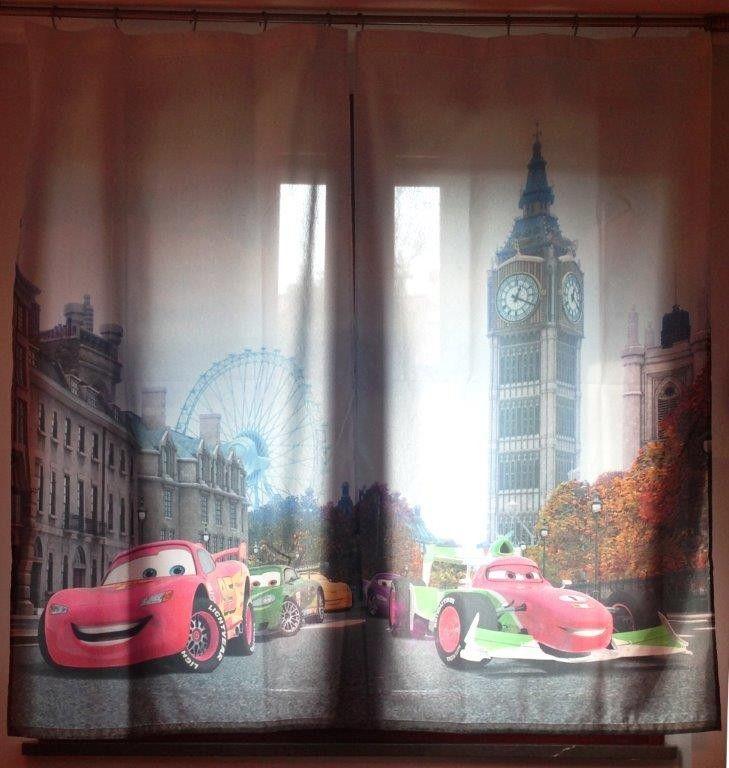 Disney Cars Coppia di Tende per la Cameretta 180x160 cm