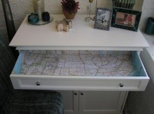 Map Lined Drawers: Ideas, Dressers Drawers, Pinterest Challenges, Maps Lin, Old Maps, Finish Drawers, Drawers Liner, Art Pieces, Maps Drawers