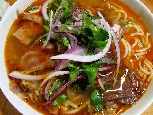 Beef and pork knuckle noodle soup
