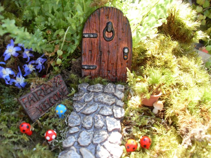 Fairy Door Set, Fairy Garden Kit, Fantasy Fairy Garden Decor,Outdoor Fairy Gardens,Desktop Gardens,Pot Gardens by LaurelsFairyDoors on Etsy https://www.etsy.com/listing/227550528/fairy-door-set-fairy-garden-kit-fantasy