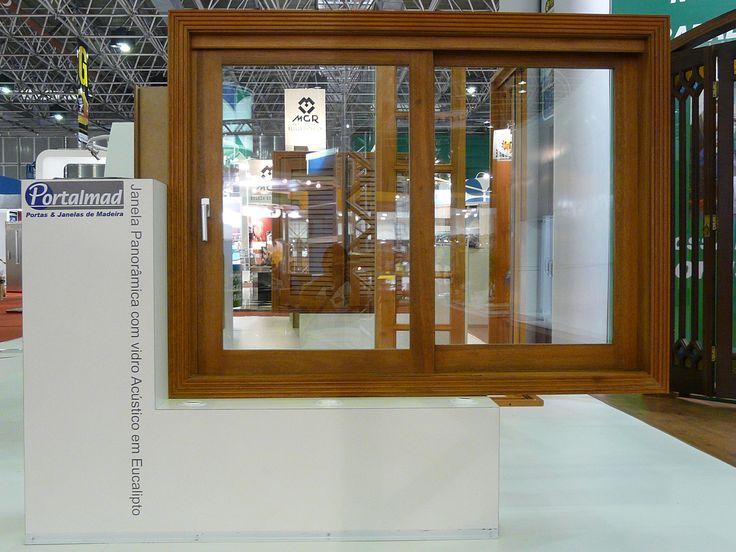 Janela acústica com vidros duplos - Exposição em feira em SP