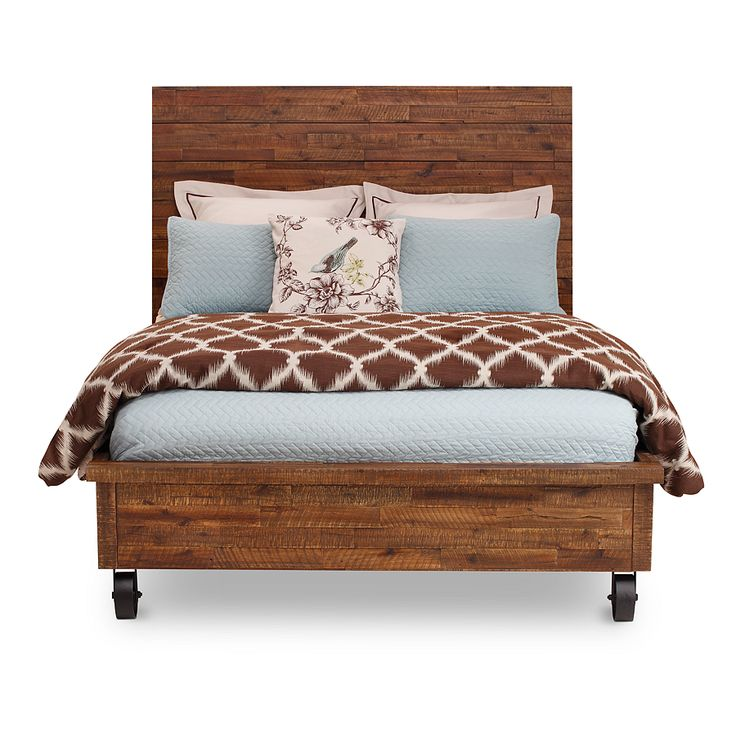 Rustic Details With Urban Stylingu2013River Ridge Bed In Solid Acacia.