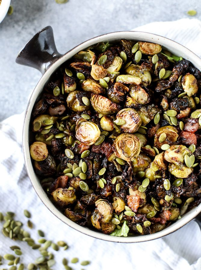 mustard roasted brussels sprouts I howsweeteats.com