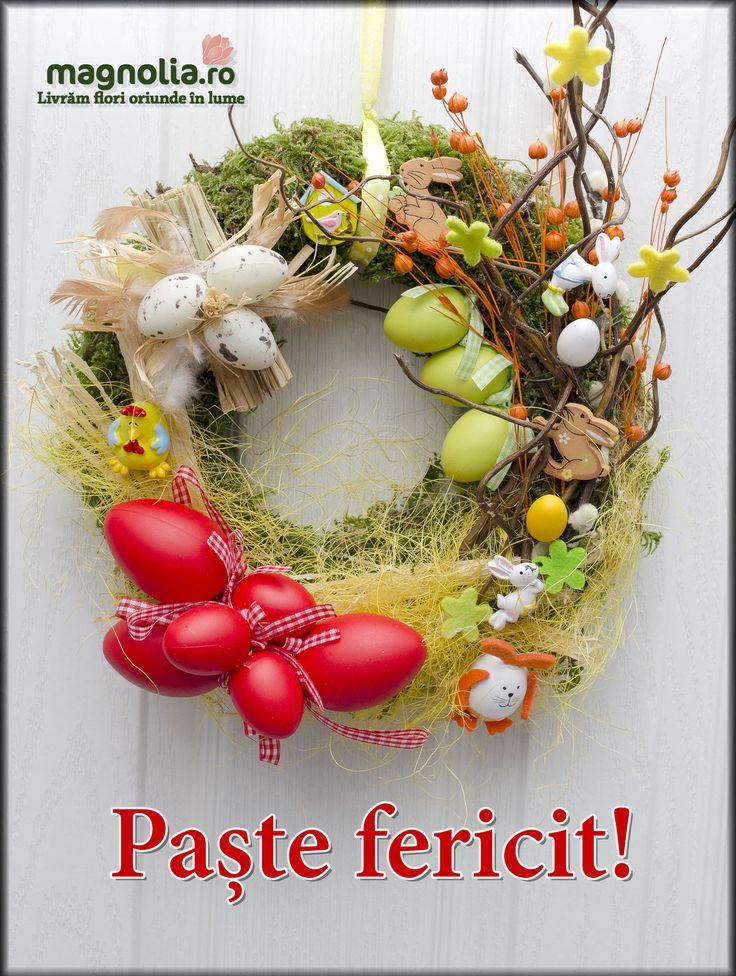 Coronita de Paste pentru usa. Easter door wreath