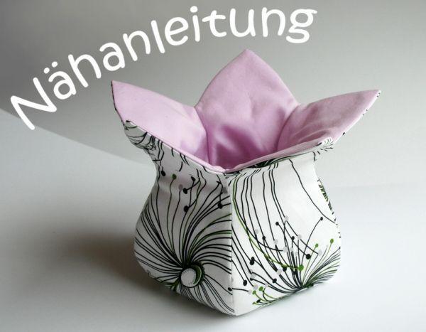 Osterkörbchen Stoffkörbchen Blüte - orimono nähen Anleitung