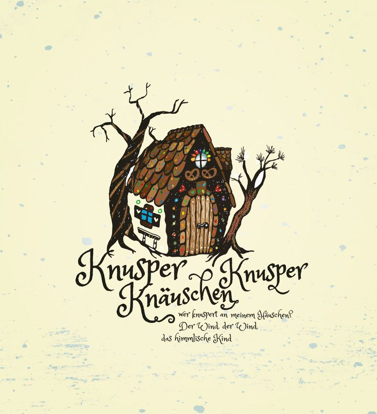 Illustration Hexenhaus, Grimms Märchen, Hänsel und Gretel, Kinderbuchillustration, Fairy, Knusperhaus