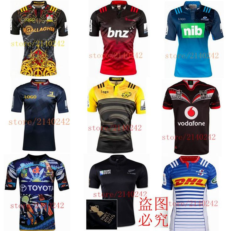 Best quality super rugby 2016 South Africa New Zealand super 15 rugby jersey rugby shirt size S-2XL Free Shipping