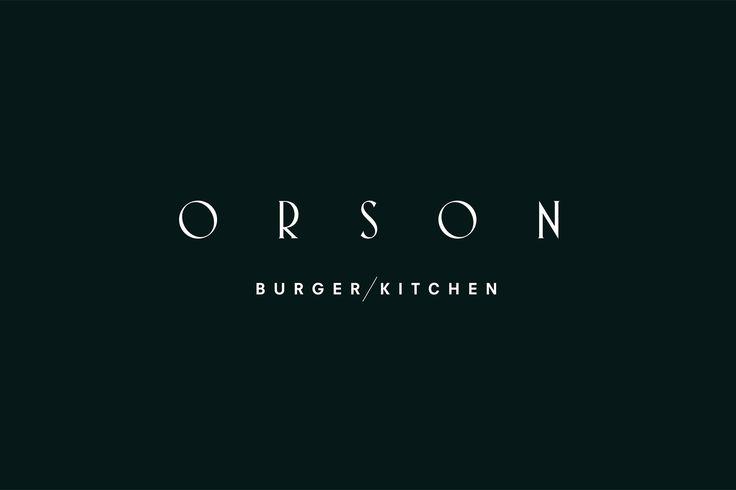 Logotype design by Anagrama for San Pedro based burger bar Orson