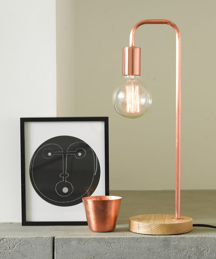 Lanie 1 Light Table Lamp in Ash/Copper
