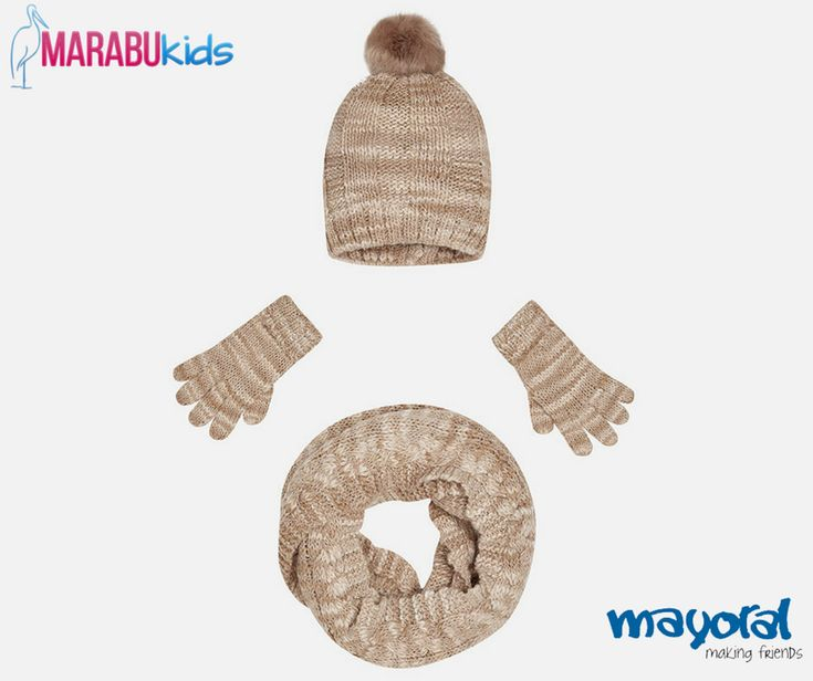 O geacă groasă nu este suficientă pentru a o proteja pe cea mică de frigul de afară. Accesoriul ideal este setul #Mayoral ce cuprinde mânuși, fular și căciulă. 🧣🧤   #MarabuKids #set #copii #iarna #caciula #fular #manusi #fete