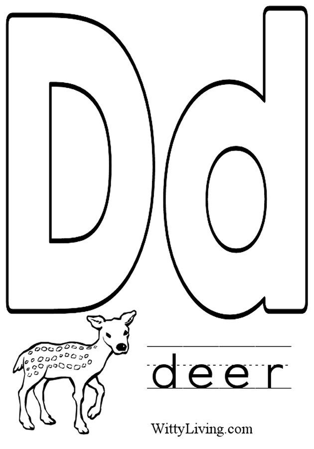 letter d coloring pages preschool black | Coloring Pages Letter D - Kids Crafts for Kids to Make ...