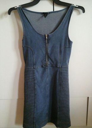 Kup mój przedmiot na #vintedpl http://www.vinted.pl/damska-odziez/krotkie-sukienki/9046309-obcisla-sukienka-ala-jeans-z-zamkiem