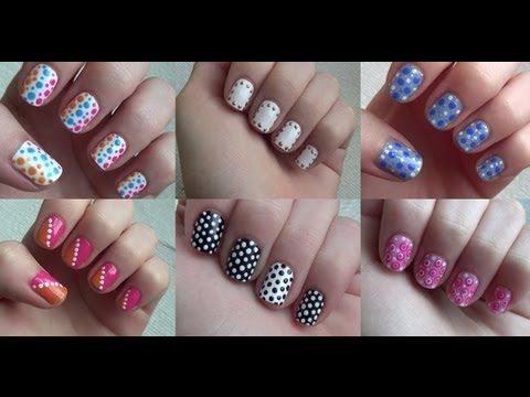 Easy Nail Art: Dots/Dotting Tools (6 Manicures!!)