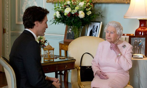 """Justin Trudeau enjoyed his first audience with the Queen on Wednesday Nov. 25. The 89-year-old monarch welcomed the 23rd Canadian prime minister, the 12th under her reign, to join her for a friendly chat in her private apartment. """"Very nice to see you again … in rather different circumstances,"""" said Her Majesty, referencing the previous meeting she had with Justin when he was just a young boy. """"I will say you were much taller than me the last time we met,"""" replied the father of three."""