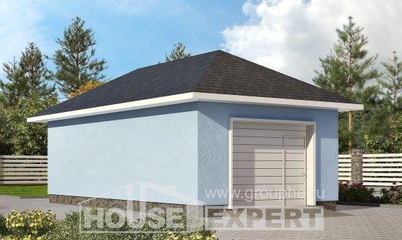 040-001-Л Проект гаража из бризолита, Тюмень