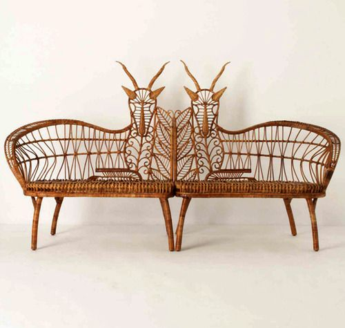 Anthropologie - Handwoven rattan Springbok chairs