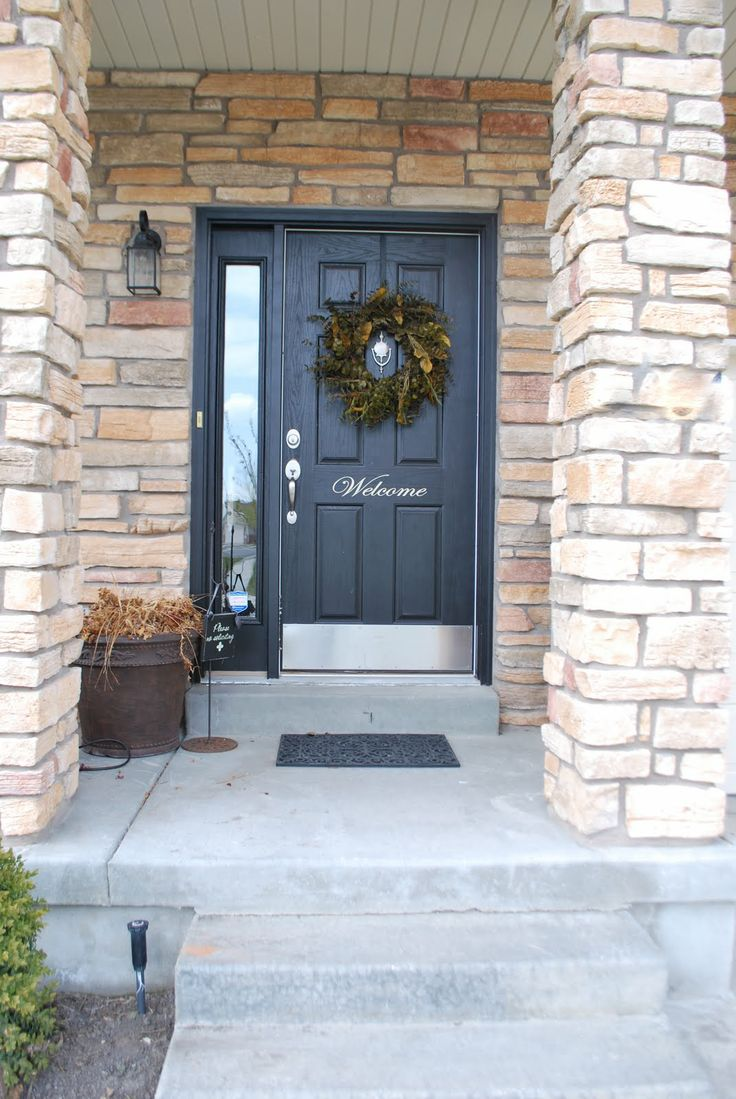 17 best images about grey front door on pinterest genoa for Black stone house