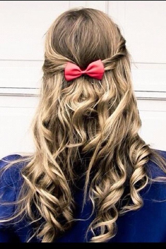 hair bows in curly hair - photo #9