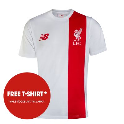 Free & exclusive LFC t-shirt with pre-orders*. *Whilst stocks last. T&Cs apply.