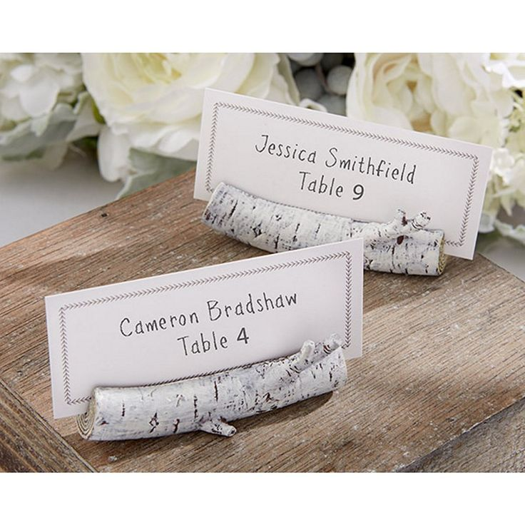 Birch place card holder - rustic wedding decorations #rusticweddingdecorations