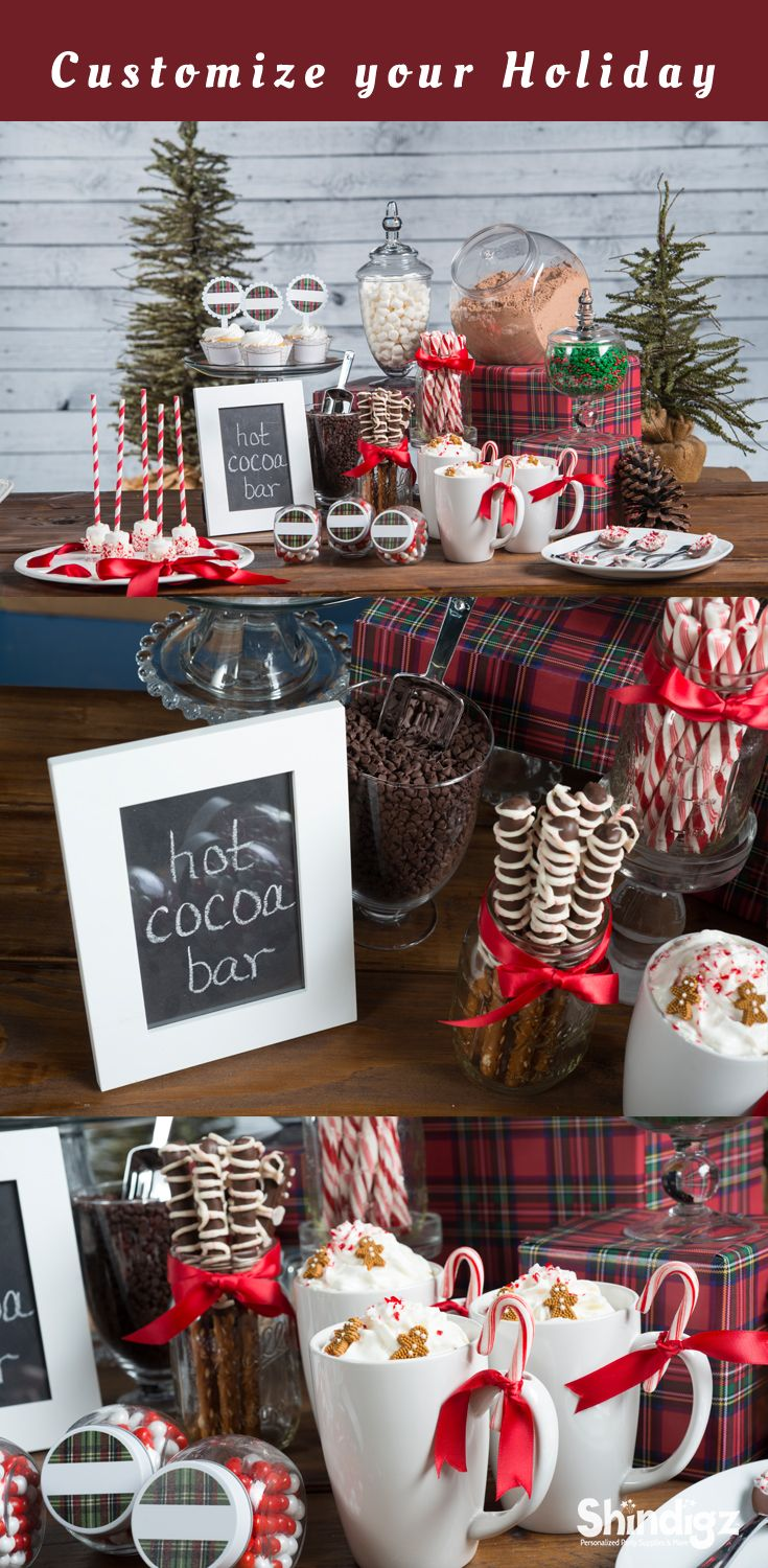 Create the ultimate hot cocoa bar this holiday season! Explore all our Christmas party ideas & Christmas decorations and save 10% promo code SZPINIT until 12/31/18 11:59 PM EST.