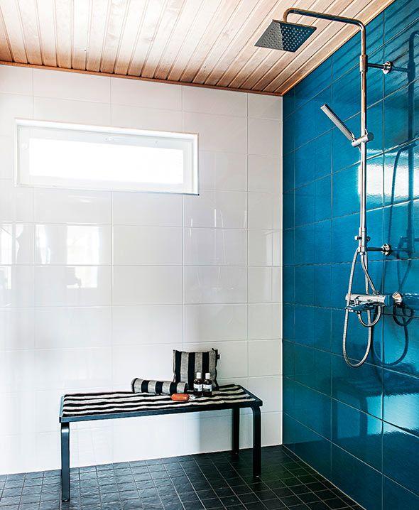 Suihkuseinä, turkoosi laatta - Kastellin Plazia, suihku