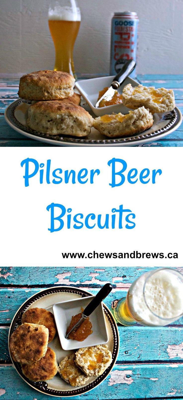 Pilsner Beer Biscuits ~ www.chewsandbrews.ca