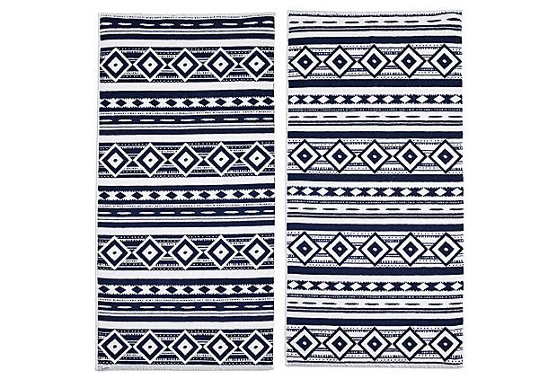 Madelyn Cameron Beach Towel, Navy | Parsons The New School for Design | One Kings Lane