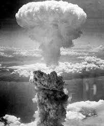 Nagasaki 'Fat Man' bomb dropped, 3 days after Hiroshima explosion 'Skinny Boy', 1945 Japan