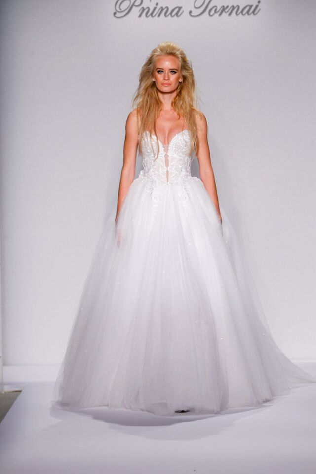 Trending Sweetheart ball gown by Pnina Tornai
